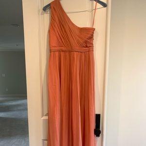 Jcrew color maxi one shoulder dress